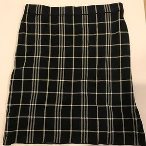 Theory plaid skirt